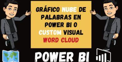 Gráfico NUBE de Palabras en Power Bi o Custom visual word cloud