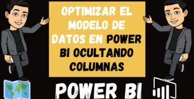 Optimizar el Modelo de Datos en Power Bi Ocultando columnas