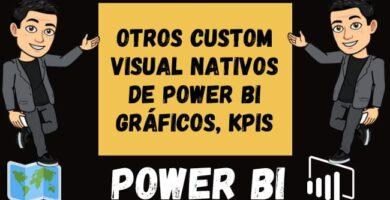 Otros Custom Visual Nativos de Power BI Gráficos, KPIs e indicadores