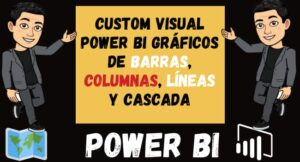 Custom Visual Power BI Gráficos de barras Columnas Líneas y cascada