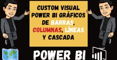 Custom Visual Power BI Gráficos de barras Columnas Líneas y cascada